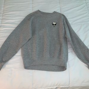 Brandy Melville/John Galt Gray Alien Sweater